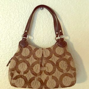 Small signature handbag.